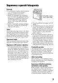 Sony DSLR-A550 - DSLR-A550 Istruzioni per l'uso Croato - Page 7