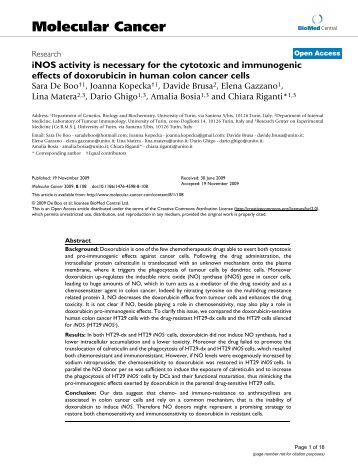 inos activity is necessary for the cytotoxic and immunogenic effects ...