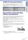 Sony NEX-5TL - NEX-5TL Guida all'uso Ungherese - Page 3
