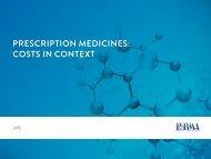 PRESCRIPTION MEDICINES COSTS IN CONTEXT