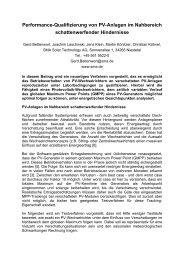 Performance-Qualifizierung von PV-Anlagen im Nahbereich ...