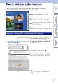 Sony DSC-TX1 - DSC-TX1 Istruzioni per l'uso Portoghese - Page 2