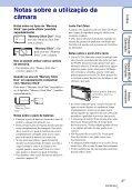 Sony DSC-TX1 - DSC-TX1 Istruzioni per l'uso Portoghese - Page 3