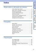 Sony DSC-TX1 - DSC-TX1 Istruzioni per l'uso Portoghese - Page 5