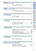 Sony DSC-TX1 - DSC-TX1 Istruzioni per l'uso Portoghese - Page 6