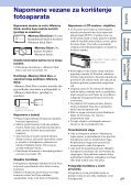 Sony DSC-TX1 - DSC-TX1 Istruzioni per l'uso Croato - Page 3