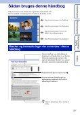 Sony DSC-TX1 - DSC-TX1 Istruzioni per l'uso Danese - Page 2