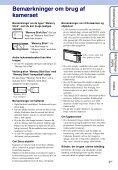 Sony DSC-TX1 - DSC-TX1 Istruzioni per l'uso Danese - Page 3