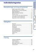 Sony DSC-TX1 - DSC-TX1 Istruzioni per l'uso Danese - Page 4