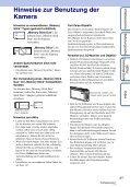 Sony DSC-TX1 - DSC-TX1 Istruzioni per l'uso Tedesco - Page 3