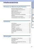 Sony DSC-TX1 - DSC-TX1 Istruzioni per l'uso Tedesco - Page 5