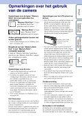 Sony DSC-TX1 - DSC-TX1 Istruzioni per l'uso Olandese - Page 3