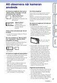 Sony DSC-TX1 - DSC-TX1 Istruzioni per l'uso Svedese - Page 3