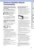 Sony DSC-TX1 - DSC-TX1 Istruzioni per l'uso Finlandese - Page 3