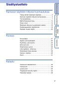 Sony DSC-TX1 - DSC-TX1 Istruzioni per l'uso Finlandese - Page 4