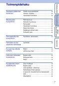 Sony DSC-TX1 - DSC-TX1 Istruzioni per l'uso Finlandese - Page 7