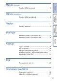Sony DSC-TX1 - DSC-TX1 Istruzioni per l'uso Ceco - Page 5