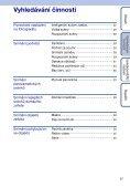 Sony DSC-TX1 - DSC-TX1 Istruzioni per l'uso Ceco - Page 7