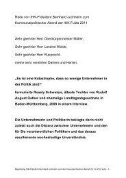 Rede von IHK-Präsident Bernhard Juchheim zum - IHK Fulda