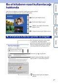 Sony DSC-TX1 - DSC-TX1 Istruzioni per l'uso Turco - Page 2