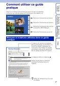 Sony DSC-TX1 - DSC-TX1 Istruzioni per l'uso Francese - Page 2