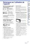 Sony DSC-TX1 - DSC-TX1 Istruzioni per l'uso Francese - Page 3
