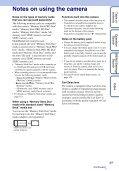 Sony DSC-T110 - DSC-T110 Istruzioni per l'uso Inglese - Page 3