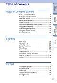 Sony DSC-T110 - DSC-T110 Istruzioni per l'uso Inglese - Page 5