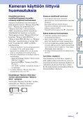 Sony DSC-T110 - DSC-T110 Istruzioni per l'uso Finlandese - Page 3
