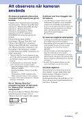 Sony DSC-T110 - DSC-T110 Istruzioni per l'uso Svedese - Page 3