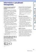 Sony DSC-T110 - DSC-T110 Istruzioni per l'uso Slovacco - Page 3
