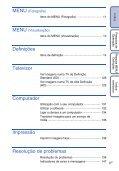 Sony DSC-T110 - DSC-T110 Istruzioni per l'uso Portoghese - Page 6
