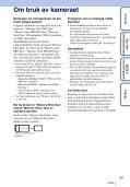 Sony DSC-T110 - DSC-T110 Istruzioni per l'uso Norvegese - Page 3