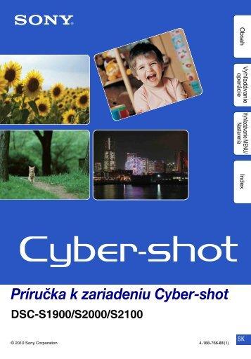 Sony DSC-S2000 - DSC-S2000 Istruzioni per l'uso Slovacco