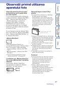 Sony DSC-S2000 - DSC-S2000 Istruzioni per l'uso Rumeno - Page 3