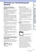 Sony DSC-W560 - DSC-W560 Istruzioni per l'uso Tedesco - Page 3