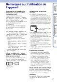 Sony DSC-S2000 - DSC-S2000 Istruzioni per l'uso Francese - Page 3