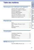 Sony DSC-S2000 - DSC-S2000 Istruzioni per l'uso Francese - Page 4