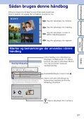 Sony DSC-S2000 - DSC-S2000 Istruzioni per l'uso Danese - Page 2