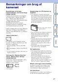 Sony DSC-S2000 - DSC-S2000 Istruzioni per l'uso Danese - Page 3