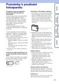 Sony DSC-S2000 - DSC-S2000 Istruzioni per l'uso Ceco - Page 3