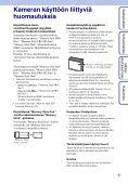 Sony DSC-S2000 - DSC-S2000 Istruzioni per l'uso Finlandese - Page 3