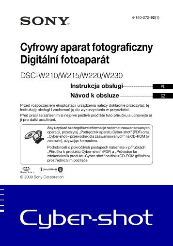 Sony DSC-W220 - DSC-W220 Istruzioni per l'uso Polacco
