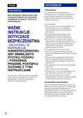 Sony DSC-W220 - DSC-W220 Istruzioni per l'uso Polacco - Page 2
