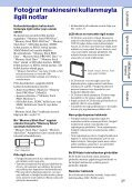 Sony DSC-W390 - DSC-W390 Istruzioni per l'uso Turco - Page 3