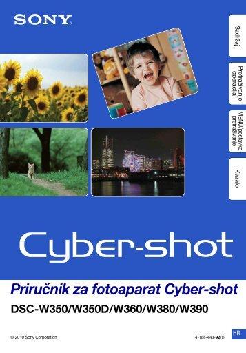 Sony DSC-W390 - DSC-W390 Guida all'uso Croato
