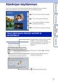 Sony DSC-W390 - DSC-W390 Istruzioni per l'uso Finlandese - Page 2