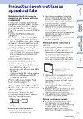 Sony DSC-W390 - DSC-W390 Istruzioni per l'uso Rumeno - Page 3