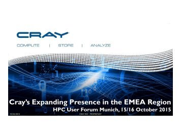 Cray's Expanding Presence in the EMEA Region