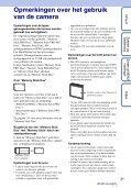 Sony DSC-W390 - DSC-W390 Guida all'uso Olandese - Page 3